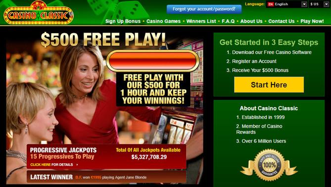 Classic Casino No Deposit Bonus